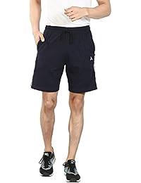 AUDACITY Shorts - Men's Cotton Regular Fit Half Pants ( Navy Blue / Black )