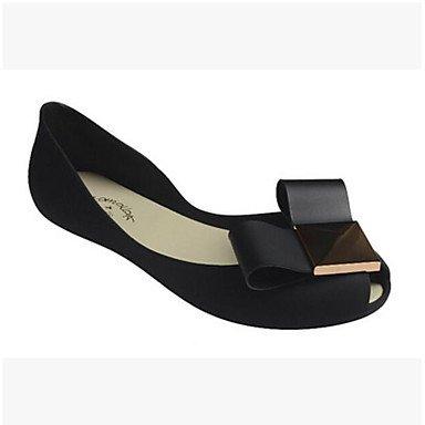 Sandales femmes Slingback d'été occasionnels de PU Argent Noir Black
