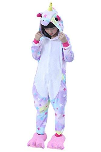 Prettycos Infantil Unicornio Pijama Ropa de Dormir Unisex Disfraz Unicornio Cosplay Animales Pijamas para Ninos