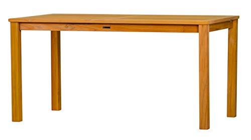 Massiver Gartentisch London aus Teakholz, 180x90cm ✓ Wetterfest ✓ Nachhaltig ✓ Robust ✓ Holztisch, Balkon-Tisch, Terrassen-Tisch ✓ Teak-Tisch, Esstisch für draußen ✓ Garten-Möbel aus Massiv-Holz -
