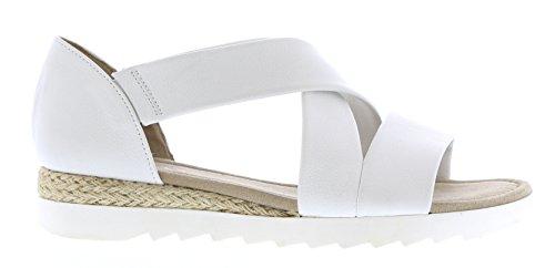 Gabor Shoes Comfort, Sandali con Zeppa Donna, Bianco (Weiss Jute), 41 EU