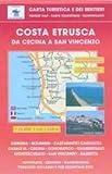 Toskana Wanderkarte: Costa Estrusca da Cecina a San Vincenzo, Bibbona, Castagneto Carducci, Sassetta, Bolgheri, topographische Wanderkarte Blatt 539, 1:25.000