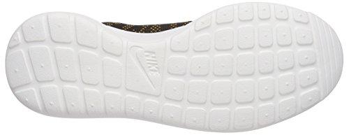 Nike Rosherun Knit Jacquard, Baskets Basses Femme Or (bronzine/black/sail)