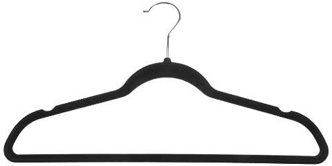 AmazonBasics Anzug- / Kostümbügel, mit Samt überzogen, Schwarz, 50 Stück