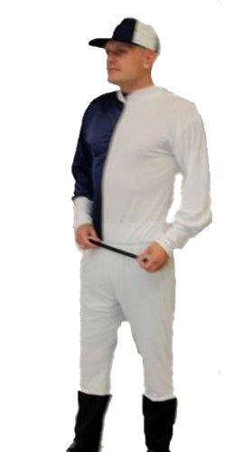 Dragons Den Déguisement de Jockey élastique Taille unique (tour de poitrine jusqu'à 44 (Kostüm Bleu Marine)