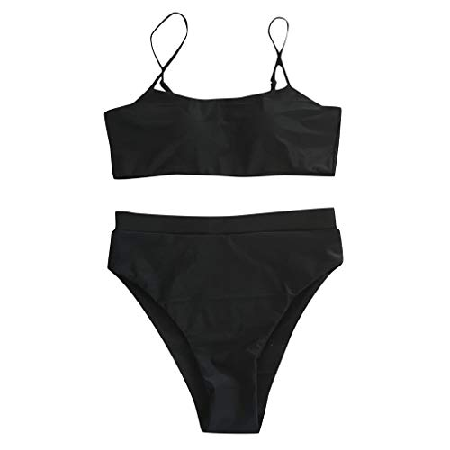 TIMEMEAN Badeanzug Damen Push Up Brasilianisch Bandeau Bandage Badebekleidung Bikini Set