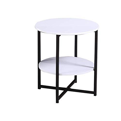 Beistelltische, Tische Hochglanz-Couchtisch-Set Satztische Couchtisch aus Holz Beistelltische für das Wohnzimmer, multifunktionaler Beistelltisch (Farbe: Mattweiß + Schwarz, Größe: 40 * 40 * 47 cm) Yellow Tea Platte