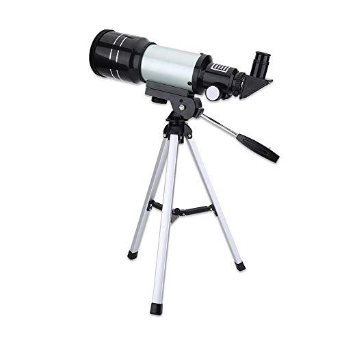 Astronomisches Teleskop, 70 mm Apertur, 300 mm astronomisches kompaktes Refraktor-Monokularteleskop mit tragbarem Stativ Für Kinder & Anfänger, Astronomie-Enthusiasten