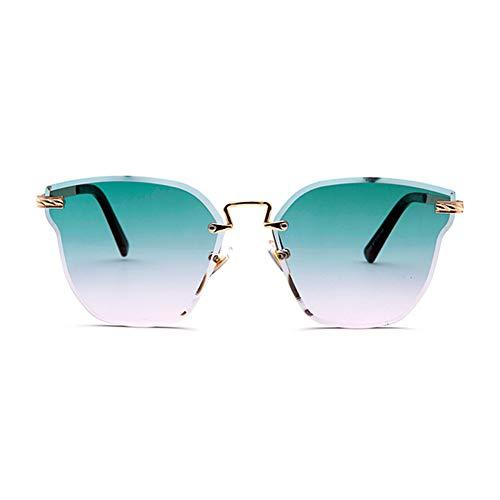 Sonnenbrille Rahmenlose Katze Ohr Marine Linse Bunt Tragbar Pflegeleicht Anti-UV-Retro-Sonnenbrille,F