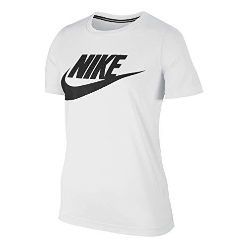 Nike Damen T-shirt 829747, Weiß (White/Black), M