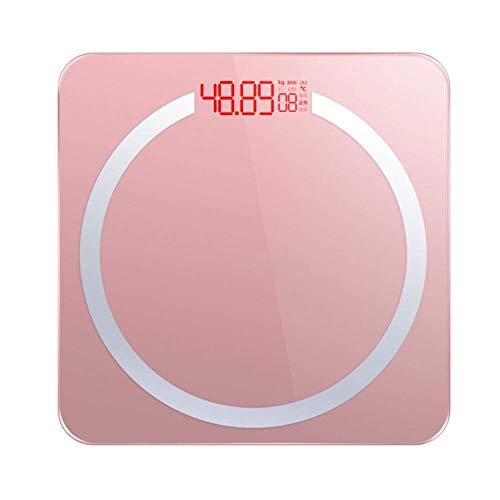 AZZ Hochpräzise Digitale Körpergewicht-Personenwaage, Gewicht, kg/lb, Maßeinheit, Umwandlung, Hintergrundbeleuchtung, Anzeige, schlankes Design, Raumtemperaturmessung, USB, wiederaufladbar