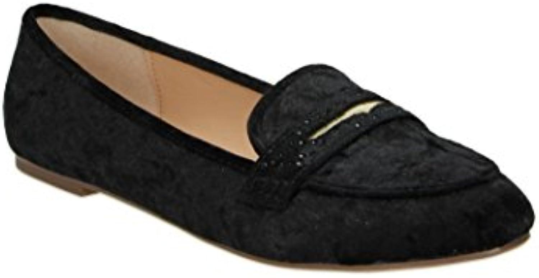 Fitters Footwear - Bailarinas de Terciopelo para mujer negro negro