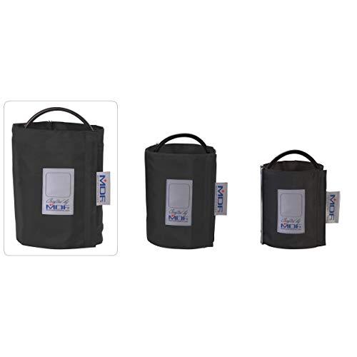 MDF® Latexfreie Blutdruckmanschette - Oberschenkelh - Einschlauch - D-Ring - Schwarz(MDF2090471D-11) -