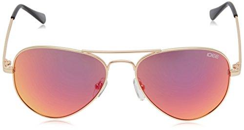 IDEE Aviator Sunglasses (IDS2000C18SG|57|Golden ) image