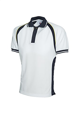 Sport Kontrast Polo Short Sleeve Atmungsaktiv Casual Freizeit getapte Hals Mehrfarbig - Black / Red
