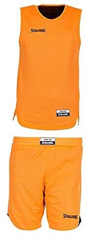 Spalding enfants Habillement Teamsport Double face Ensemble Maillot - Multicolore (Orange/Noir) - 140 cm
