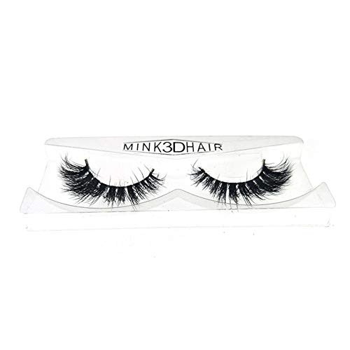 3D gefälschte Wimpern Make-up handgemacht dramatisch dick Criss Cross Deluxe falsche Wimpern schwarz Natur flauschig lange weich wiederverwendbare 2 Paar Pack (Y-27) -