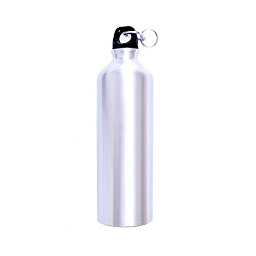 Tuelip Sports Aluminium Water Bottle, 750ml, Silver Thermos   Flasks