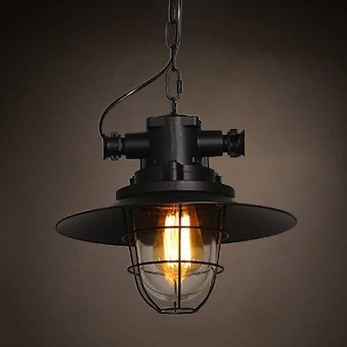 CHQW trade Metallkäfig Vintage Industriedecke Hängeleuchte Retro Anhänger Beleuchtung E27 Edison Einstellbare Antike Hängelaterne for Bauernhaus Scheune Veranda Küche