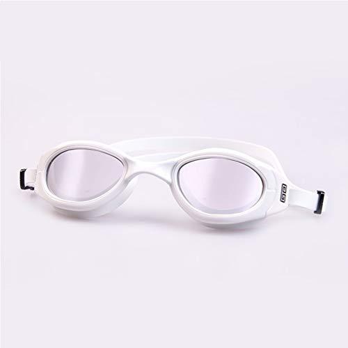 Flache helle Myopie-Schwimmen-Schutzbrillen der Männer und der Frauen-HD wasserdicht und Anti-Fog-Berufsschwimmtraining-Schutzbrillen-Ausrüstungs-Schwimmen-Kappen-Gläser stellten Grad optional ein