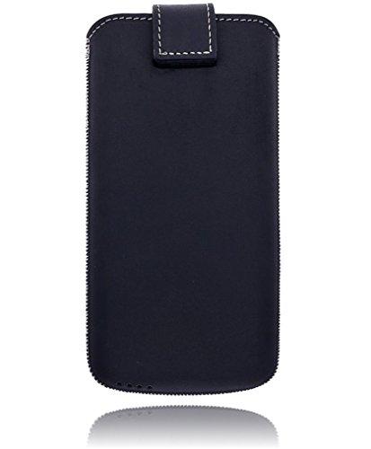Burkley Apple iPhone 8 / iPhone 7 Hülle | Premium Lederhülle | Handyhülle | Tasche | Schutzhülle | Handytasche | Ledertasche | Hülle | Sleeve | Cover | Case Etui mit Klettverschluss (Sattel Braun) Schwarz