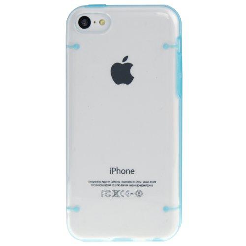 """iPhone 5C coque/Case/Coque en bleu avec panneau arrière transparent en polycarbonate de qualité style """"de Bumper Case-Original seulement de thesmartguard"""