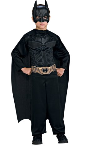 (KULTFAKTOR GmbH Batman Dark Knight Kinderkostüm schwarz 128/140 (8-10 Jahre))