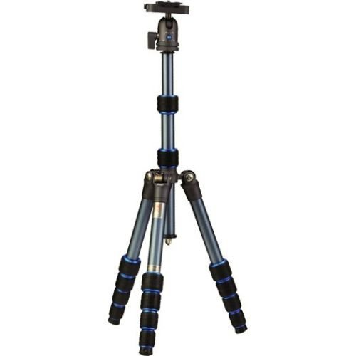 Nest NT-6234AK 4.5ft Traveller Aluminium Professional Tripod stand Kit For Digital DSLR Camera Moon Blue Payload 10Kg