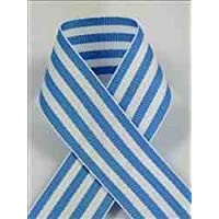 Schiff Ribbons 44207-5 50-Yard Candy Stripe Ribbon, 7/8-Inch, Blue/White Stripe by Schiff Ribbons
