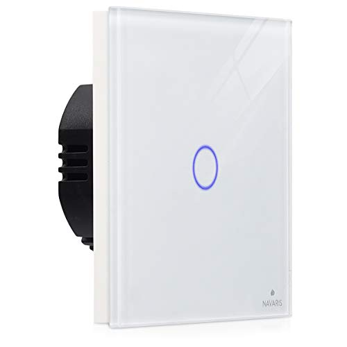 Navaris interruptor táctil de pared - Interruptor de luz con pantalla táctil...