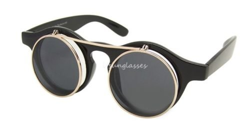 schwarz-steampunk-brille-party-flip-up-rund-klar-objektiv-sonnenbrille-lady-gaga