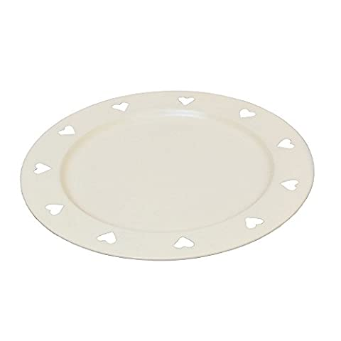 SET OF 6 - Beautiful Country Style Ivory Cutout Charger Plate, Perfect for Christmas, Wedding or Special Occasions!