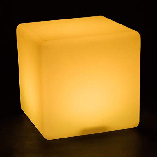 QYZHCP LED Würfel Licht Hocker, Wiederaufladbare Tischlampe Kubischen Hocker Osman Stuhl Couchtisch Im Freien Europäischen Bunten Gartenleuchten (Size : 60 * 60 * 60cm)