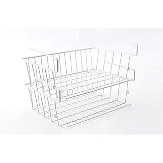 addfun® unter Regalen Draht zum Aufhängen Aufbewahrungskorb für Küche Schränke, Kleiderschrank, Schreibtisch Pack of 2