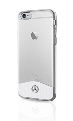 Mercedes MEHCP7TRBRSI Schutzhülle für Apple iPhone 7 mit Aluminium Platte klar Apple-platte