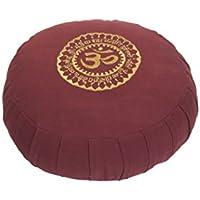 Kanyoga Bacca canapa Meditazione Cuscino Cotone Mix Om Zafu(13cm x 38cm),1 Pezzo