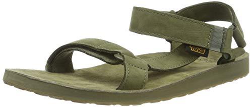 Teva Original Universal Leather M's Sandali con Cinturino alla Caviglia Uomo, Verde (Burnt Olive 383) 43 EU