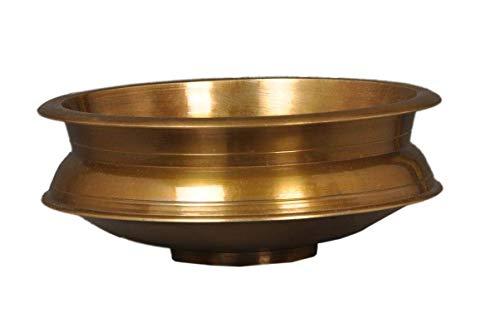Barrel Crafts Galaxie Panche Dhatu en Laiton urli Diamètre 25 cm Hauteur 6 cm