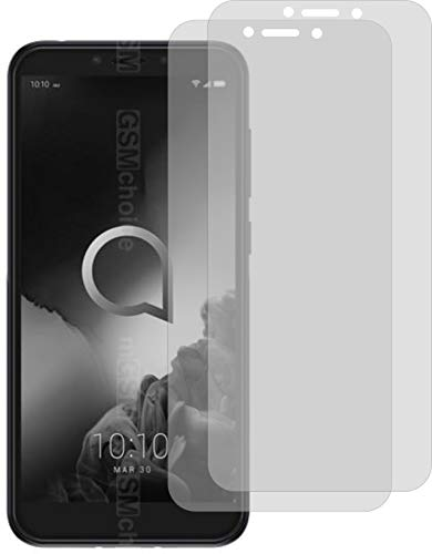 2X Crystal Clear klar Schutzfolie für Alcatel 1S Bildschirmschutzfolie Displayschutzfolie Schutzhülle Bildschirmschutz Bildschirmfolie Folie