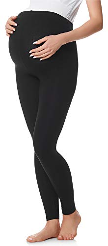 Be Mammy Legging Grossesse Maternité Tenue Sport BE20-230(Noir, L)