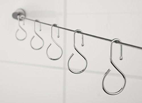 Ridder Seilspanngarnitur für Duschvorhänge silber 300 cm