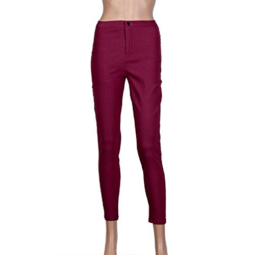 Covermason Denim Jeans mode couleurs pantalons occasionnels Rouge