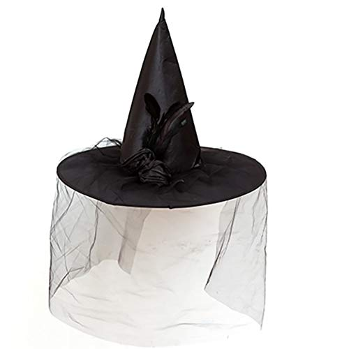 nacola Halloween Violett/Weiß Frauen Hexe Hat für Kostüm Accessoire Scary Party Dekoration weiß