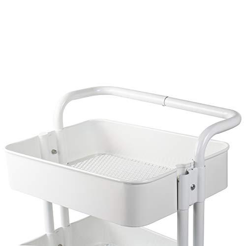 Bagno Carrello portaoggetti per Cucina D4P Display4top 3 Piani Carrello Portaoggetti Nero Camera da Letto Carrello portaoggetti con Ruote bloccabili
