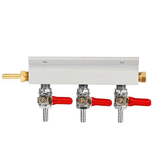 XZANTE 3 Wege Co2 Verteilerblock Für Kohlendioxid Gasverteiler Mit 7mm Schlauch Widerhaken Haushalt Bierbrüh Fassbierspender Fass