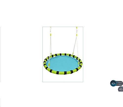 Mesh-Kinderschaukel, Hochtemperatur- und alterungsbeständiger UV-Anti-Regenstuhl, Hängematte, geeignet für Kinder über 3 Jahre, 80 kg tragend, Outdoor, Camping,Garten, Innenbereich, 100 * 100 cm,Blue