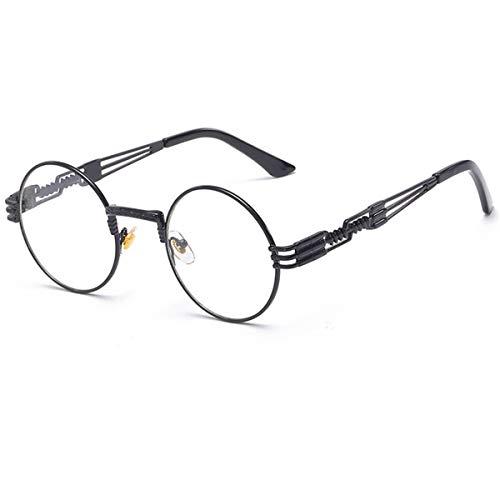 DYFDHA Sonnenbrillen Steampunk Goggles Sunglasses Men Women Brand Designer Vintage Round Sun Glasses For UV400 Female Male Retro Oculos QF022 QF022-C12