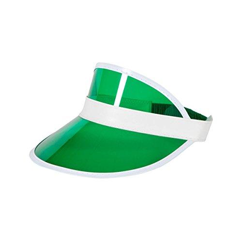 hre Unisex Sonnenblende Pokerhut Golf Neon Pub Hirsch Rave Dance Cap Stirnband breite Palette von Farben (grünes Visiermütze) ()
