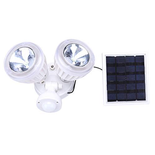 Dkings Outdoor Solar Spotlight, verbesserte Doppelkopf Solar Motion Sensor Licht wasserdicht solarbetriebene Sicherheitsleuchte für Gartenterrasse Veranda Deck Yard Garage Auffahrt Außenwand