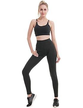 lunaanco Dios CREA Mujeres Mallas Deportes Mujer☭Leggings Yoga Pantalon de Encaje☭Cintura para Running Pantalones...